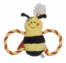 Dogit Luvz Plush Yellow Buzz Bee Dog Toy