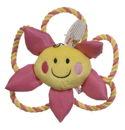 Dogit Luvz Plush Yellow Flora Flower Dog Toy