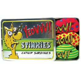 Yeowww! Catnip Stinkies Sardines Cat Toy 3-Pack Tin