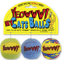 Yeowww! Catnip My Cats Balls Cat Toy Set
