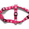 Zee.Dog Pink Skull Step-In Dog Harness