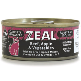 Zeal Beef, Apple & Vegetables Canned Cat Food 100g