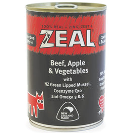 30% OFF: Zeal Beef, Apple & Vegetables Canned Dog Food 390g (Exp 28 Sep 19)
