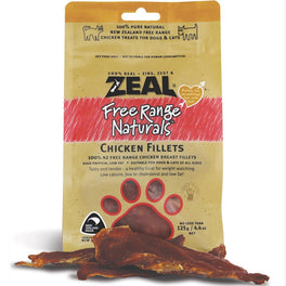 BUY 2 GET 1 FREE: Zeal Free Range Naturals Chicken Fillets Cat & Dog Treats 125g