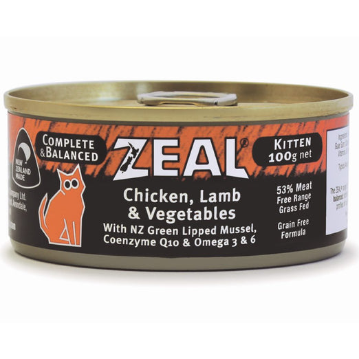 Zeal Chicken, Lamb & Vegetables Kitten Canned Cat Food 100g