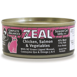 '$1 OFF (Exp 3 Feb 20)': Zeal Chicken, Salmon & Vegetables Senior Canned Cat Food 100g