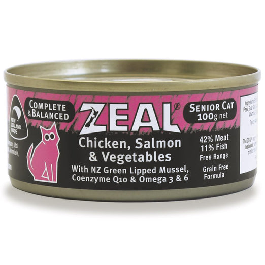 Zeal Chicken, Salmon & Vegetables Senior Canned Cat Food 100g