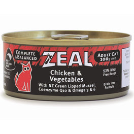 '$1 OFF (Exp 3 Feb 20)': Zeal Chicken & Vegetables Canned Cat Food 100g