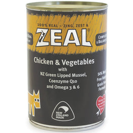 30% OFF: Zeal Chicken & Vegetables Canned Dog Food 390g (Exp 12 Oct 19)
