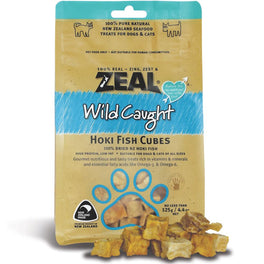 BUY 2 GET 1 FREE: Zeal Free Range Naturals Hoki Fish Cubes Cat & Dog Treats 125g