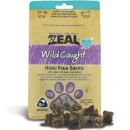 BUY 2 GET 1 FREE: Zeal Free Range Naturals Hoki Fish Skins Cat & Dog Treats 125g