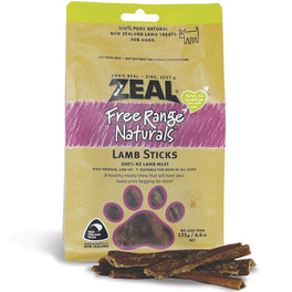 BUY 2 GET 1 FREE: Zeal Free Range Naturals Lamb Sticks Dog Treats 125g