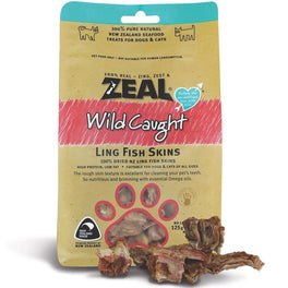 BUY 2 GET 1 FREE: Zeal Free Range Naturals Ling Fish Skins Cat & Dog Treats 125g