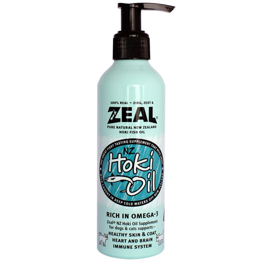 Zeal Pure Natural New Zealand Hoki Fish Oil Cat & Dog Supplement 220ml - Kohepets