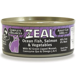 Zeal Ocean Fish, Salmon & Vegetables Canned Cat Food 100g