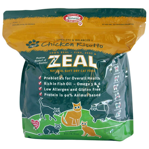 Zeal Chicken Risotto Soft Dry Cat Food 1.5kg