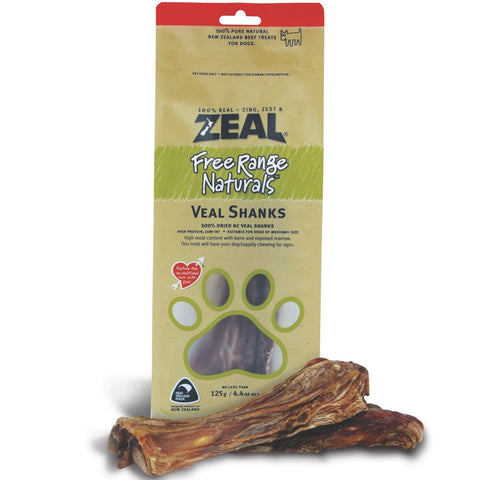 BUY 2 GET 1 FREE: Zeal Free Range Naturals Veal Shanks Dog Treats 125g