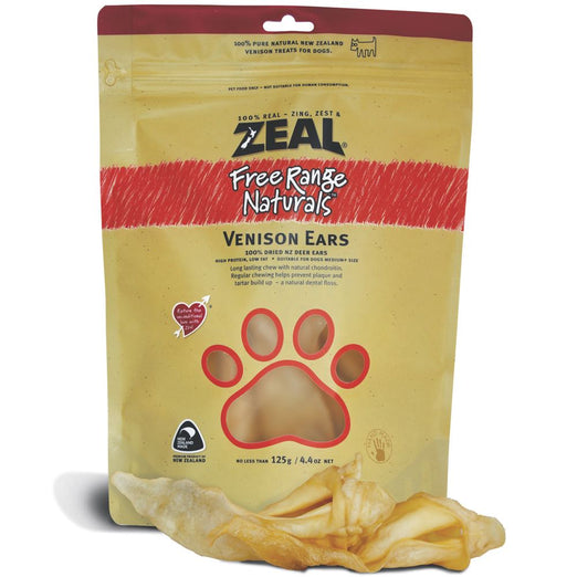 BUY 2 GET 1 FREE: Zeal Free Range Naturals Venison Ears Dog Treats 125g - Kohepets