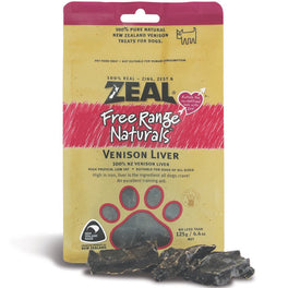 BUY 2 GET 1 FREE: Zeal Free Range Naturals Venison Liver Dog Treats 125g