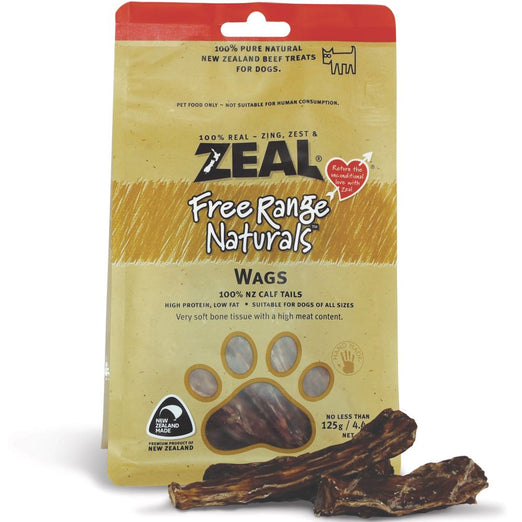 BUY 2 GET 1 FREE: Zeal Free Range Naturals Wags Dog Treats 125g