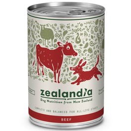 Zealandia Free Range Beef Canned Dog Food 370g