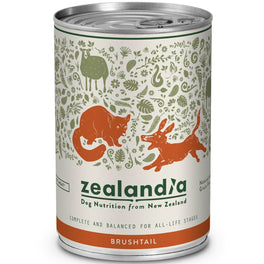 Zealandia Wild NZ Brushtail Canned Dog Food 370g