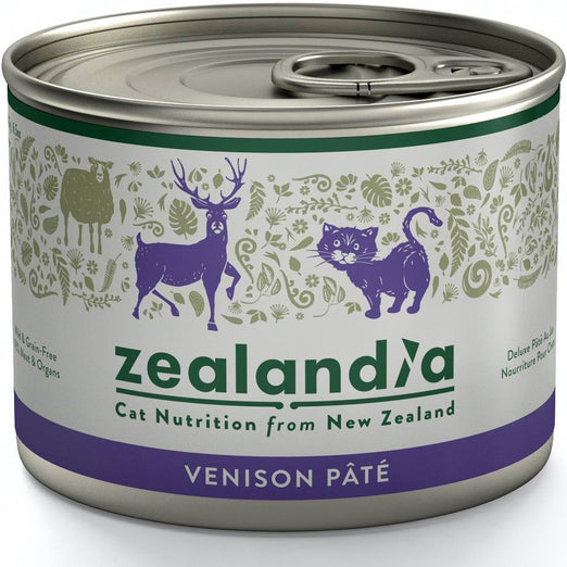 Zealandia Wild Venison Adult Canned Cat Food 185g - Kohepets