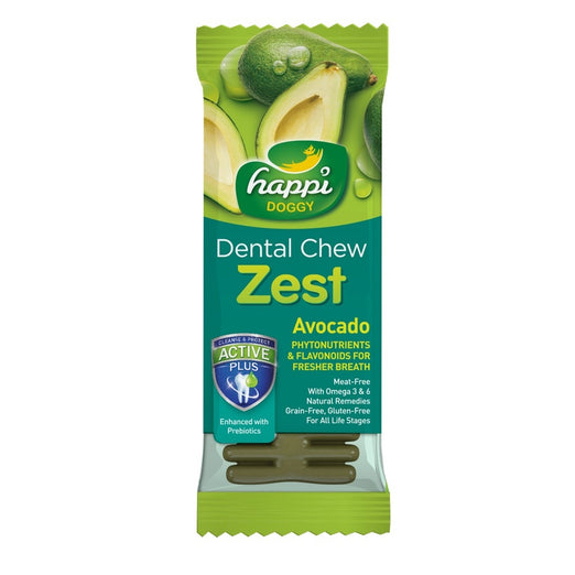 Happi Doggy Dental Chew Zest Avocado 4 Inch 25g