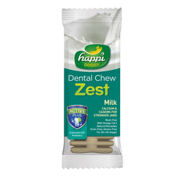 20% OFF: Happi Doggy Zest Milk 4 Inch Dental Dog Chew 25g
