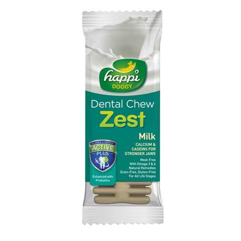 Happi Doggy Dental Chew Zest Milk 4 Inch 25g