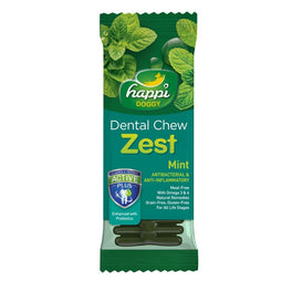 20% OFF: Happi Doggy Zest Mint 4 Inch Dental Dog Chew 25g