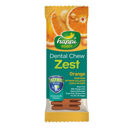 20% OFF: Happi Doggy Zest Orange 4 Inch Dental Dog Chew 25g
