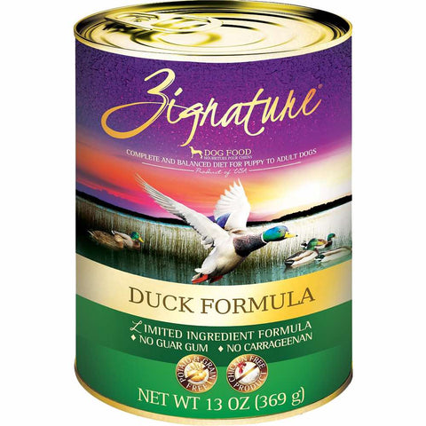 '30% OFF (Exp Mar 21)': Zignature Duck Grain Free Canned Dog Food 369g - Kohepets