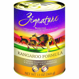 20% OFF: Zignature Kangaroo Grain Free Canned Dog Food 369g