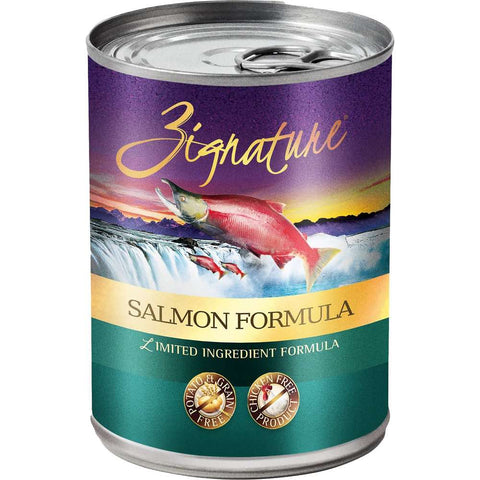 20% OFF: Zignature Salmon Grain Free Canned Dog Food 369g
