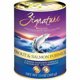 20% OFF: Zignature Trout & Salmon Grain Free Canned Dog Food 369g