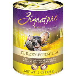 20% OFF: Zignature Turkey Grain Free Canned Dog Food 369g