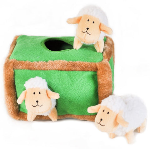 ZippyPaws Burrow Sheep Pen Dog Toy
