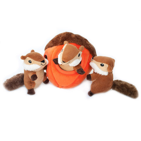 ZippyPaws Burrow Chipmunk 'n Acorn Dog Toy - Kohepets