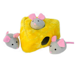 ZippyPaws Burrow Mice 'n Cheese Dog Toy
