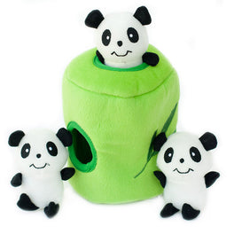 ZippyPaws Burrow Panda 'n Bamboo Dog Toy