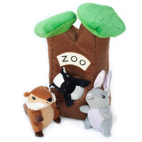 ZippyPaws Burrow XL Zoo Dog Toy - Kohepets