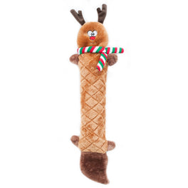 ZippyPaws Christmas Jigglerz Reindeer Dog Toy