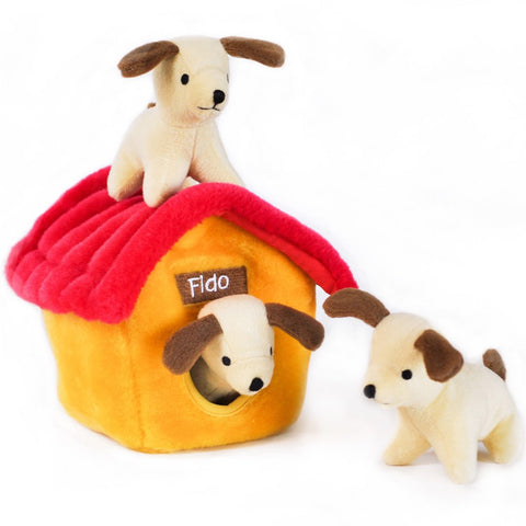 ZippyPaws Burrow Dog House Dog Toy - Kohepets