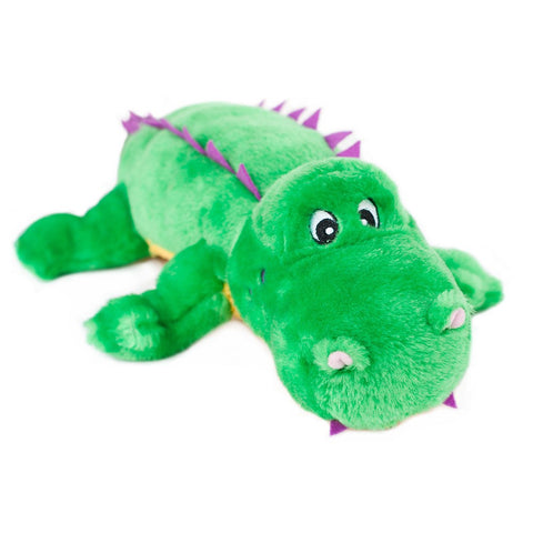 ZippyPaws Grunterz Alvin The Alligator Dog Toy - Kohepets