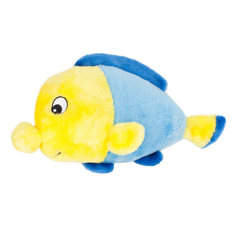 ZippyPaws Grunterz Finn The Fish Dog Toy - Kohepets