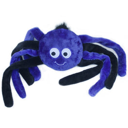 ZippyPaws Halloween Grunterz Purple Spider Dog Toy