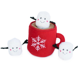 ZippyPaws Holiday Zippy Burrow Hot Cocoa Dog Toy