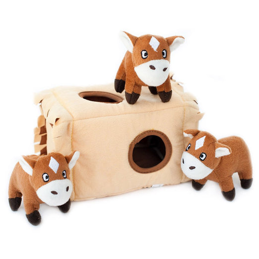 ZippyPaws Burrow Horse 'N Hay Dog Toy
