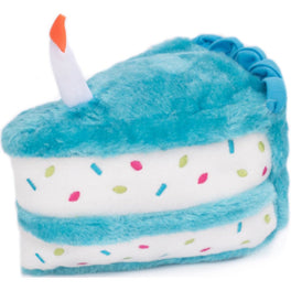 ZippyPaws NomNomz Birthday Cake Blue Dog Toy